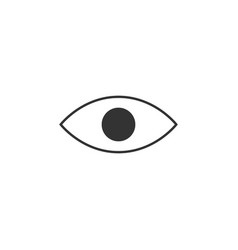 eye view line icon simple modern flat for mobile vector image
