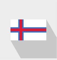 Faroe islands flag long shadow design vector