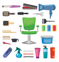 Fashion hairdresser with hair clipper vector