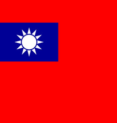 flag of taiwan national symbol of the state vector image