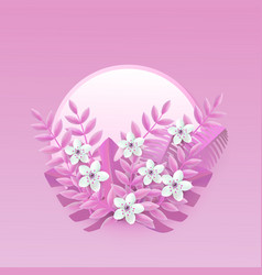 floral with white cherry or vector image