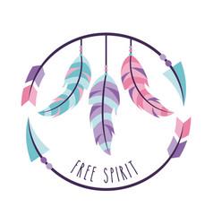 free spirit cartoon background vector image