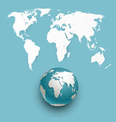 globe and world map vector image