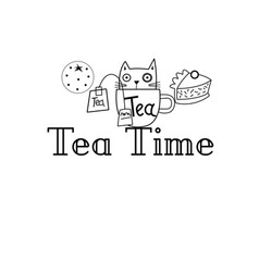 graphics tea time vector image