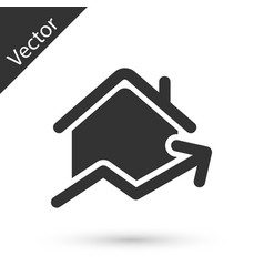 Grey rising cost housing icon isolated on white vector