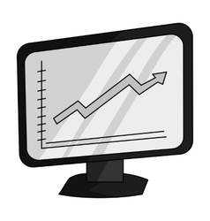 Growing graphic icon in monochrome style isolated vector image