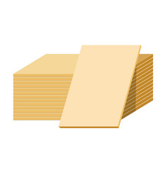 gypsum sheets or drywall panels stack building vector image