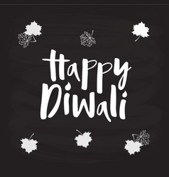 Happy diwali for poster logotype banner flyer vector