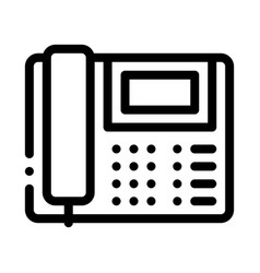Home telephone icon outline vector