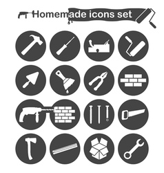 Homemade construction and renovation icons vector