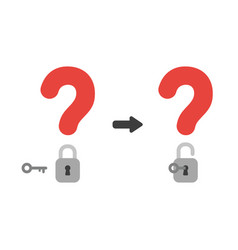 icon concept of question marks with closed and vector image