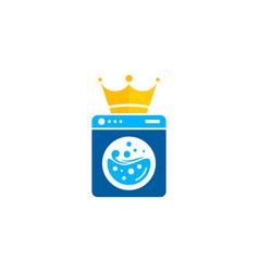 king laundry logo icon design vector image