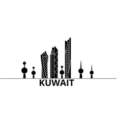 Kuwait architecture city skyline travel vector