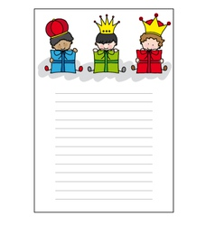 Letter to three kings vector