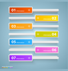 list of options art info vector image