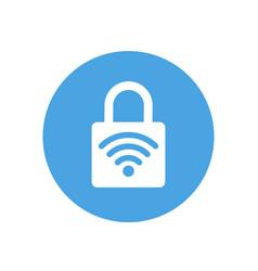 Lock icon padlock sign wifi protected wi-fi vector