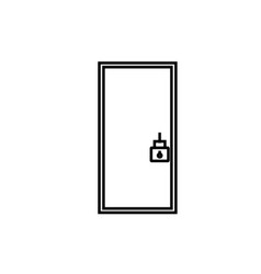 locked door icon vector image
