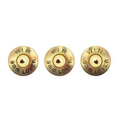 Lover weapons 9 mm caliber weapon bullets vector