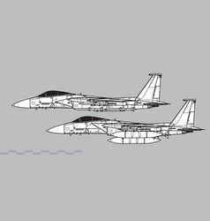 Mcdonnell douglas f-15 eagle vector