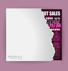 modern advertisement sheet with discount a vector image
