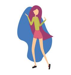 modern girl dancing and having fun at a party vector image