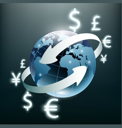 money transfer global currency stock exchange vector image