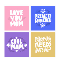 mothers dat cards vector image