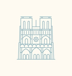 Notre Dame vector image