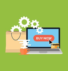 Online shopping e-commerce concept Flat design vector image