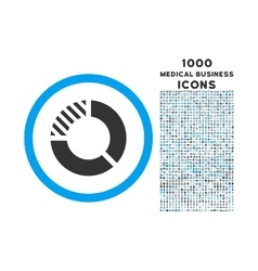 Pie Chart Rounded Symbol With 1000 Icons vector image vector image