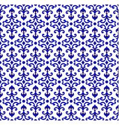 porcelain seamless pattern vector image