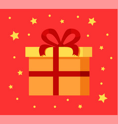 present gift box in decorative wrapping paper icon vector image