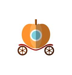pumpkin fairy carriage for princess riding a ball vector image