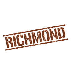 Richmond brown square stamp vector