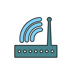router device icon vector image