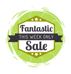 Sale this week only logotype with ribbon vector
