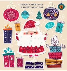 Santa toys vector image