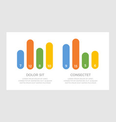 set blue and orange green yellow elements vector image