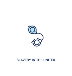 Slavery in united states concept 2 colored vector