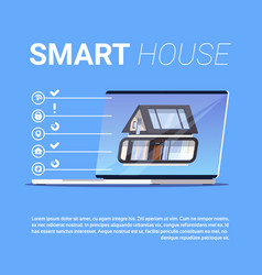 Smart house infographic elements template modern vector