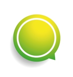 Speech bubble green vector image