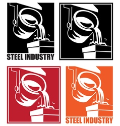 Steel industry vector