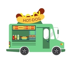 Street Food Hot dog Food Truck vector