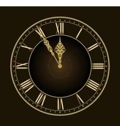 Stylish clock vector