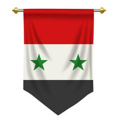 Syria pennant vector
