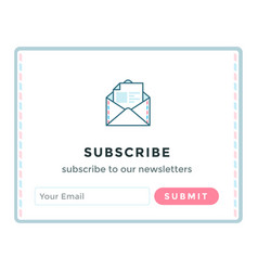 template email subscribe form vector image