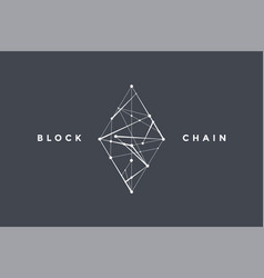Template logo for blockchain technology vector
