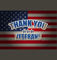 Thank you veterans vector