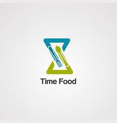 time food logo icon elementand template for vector image