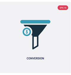two color conversion icon from technology concept vector image